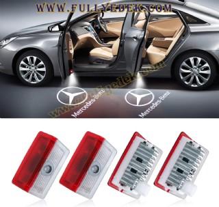 Led Araba Logosu Kapı Işığı Mercedes A C E Glc Gls Serisi Class Uyumlu